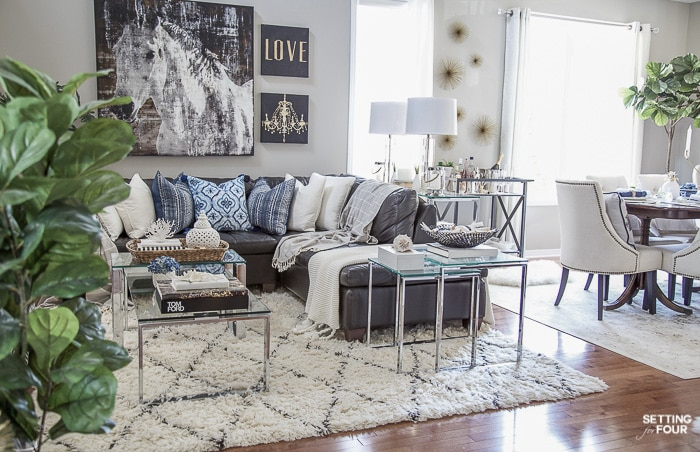 gray paint colors for living room brown sofa ideas in my home setting four go to color our open concept this is