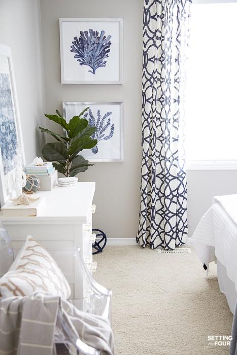 7 simple summer bedroom