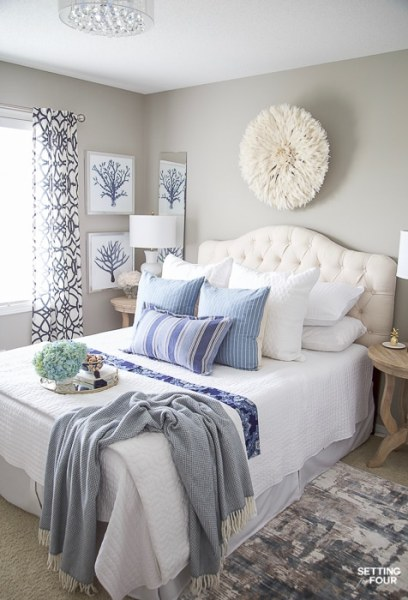 easy bedroom makeover ideas 7 Simple Summer Bedroom Decorating Ideas - Setting for Four