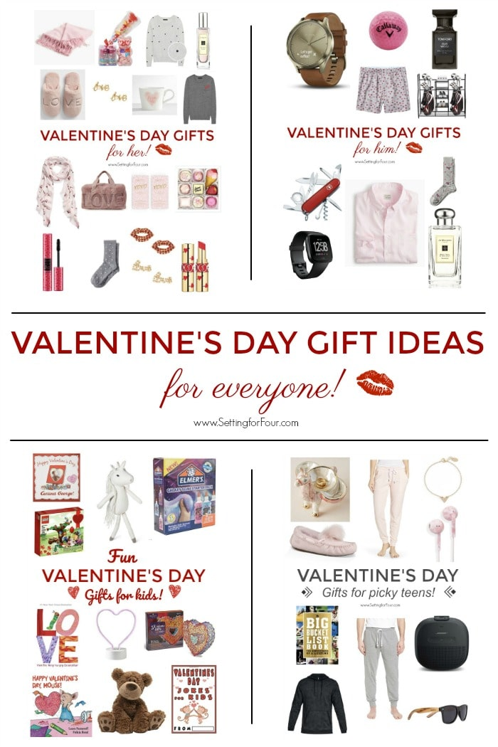 Valentine S Day Gift Ideas For Her For Him For Teens For Kids Setting For Four
