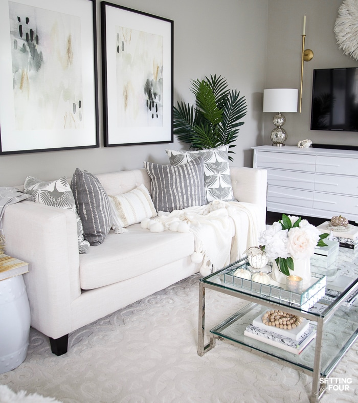 elegant fall living room decor ideas to