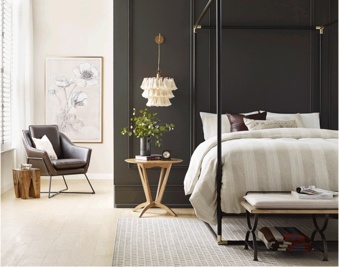 Color Of The Year 2021 Sherwin Williams Urbane Bronze SW 7048   Setting for Four