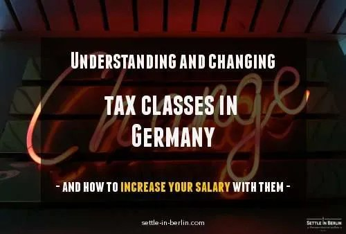 How to change tax class in Germany