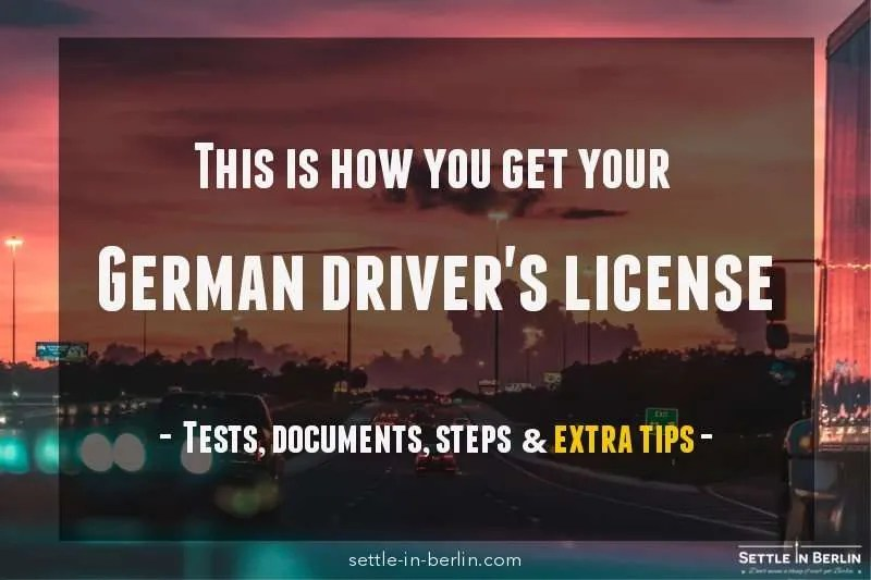 Your fool-proof plan to get your German driver's license