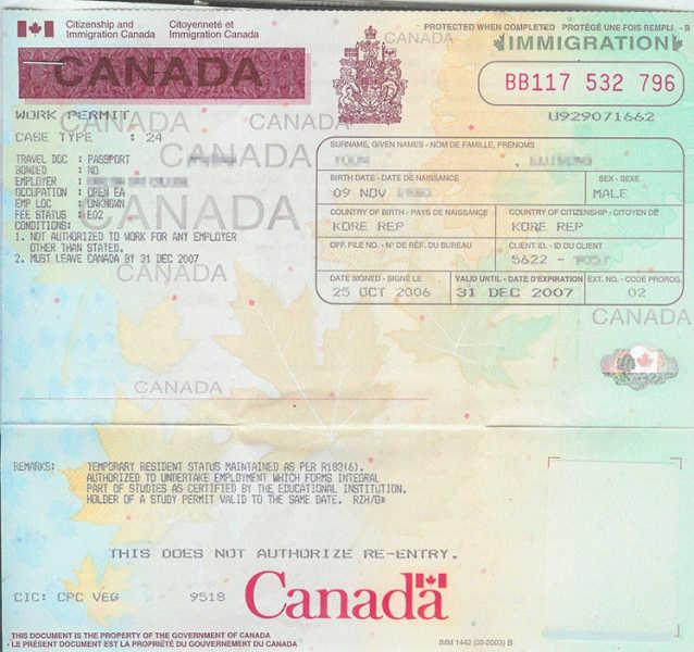 work permit in canada settle. Black Bedroom Furniture Sets. Home Design Ideas