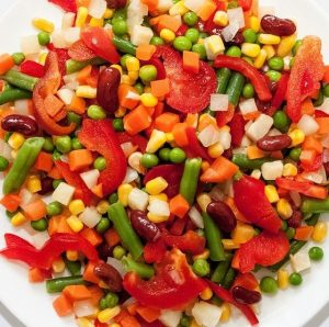 mexican mix, vegetables, salad