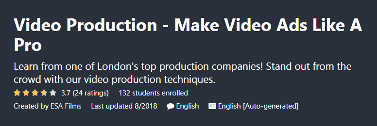 video ads course