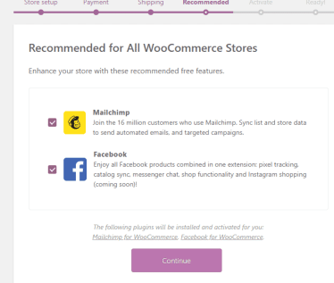 recommeneded plugin for woocommerce