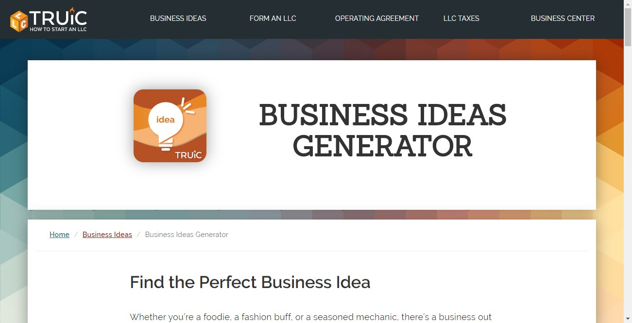 business ideas generator