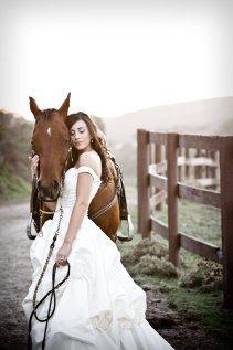 Bride with horse Southeast Texas