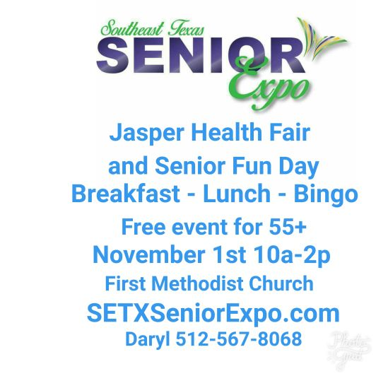 senior expo Port Arthur, senior expo Jasper TX, senior events Jasper TX, health fair Jasper TX