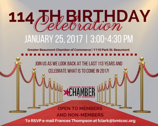 Beaumont Chamber Birthday, Beaumont Chamber Birthday Party, Chamber Birthday Celebration Beaumont TX