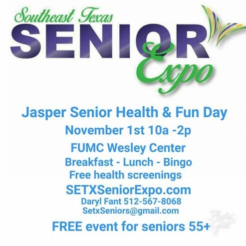 senior expo Jasper TX, health fair Jasper TX, senior events Jasper TX, senior resources Jasper TX