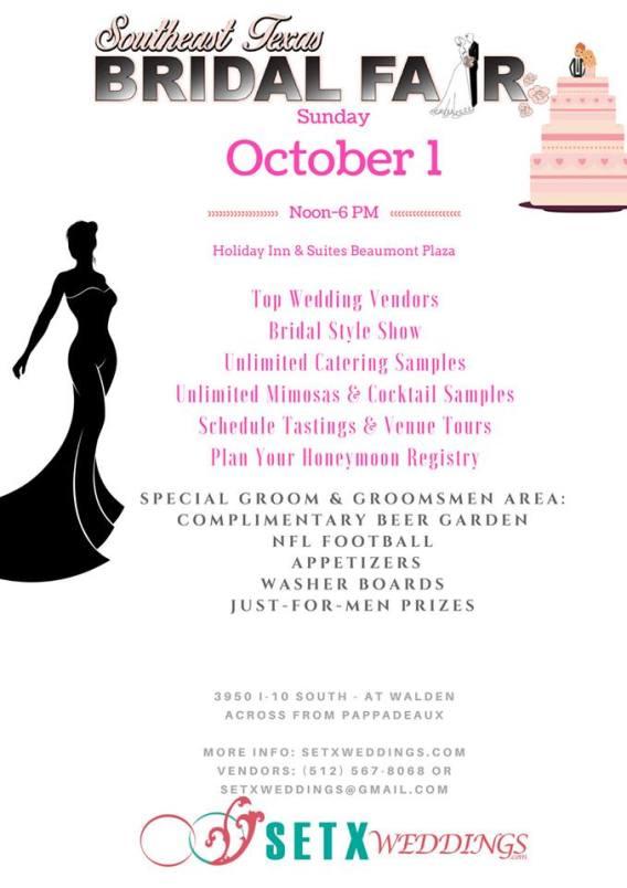 Beaumont Bridal Fair, Beaumont Bridal Expo, Beaumont Wedding Expo, Beaumont Wedding events