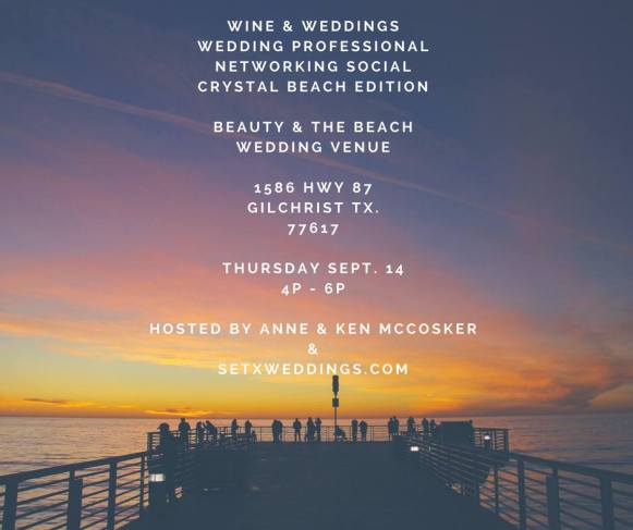 wedding vendor social Crystal Beach, networking event Beaumont, networking event Port Arthur, Crystal Beach wedding, Crystal Beach TX, Rollover Pass