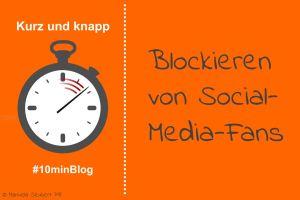 Social Media Accounts blockieren für die eigene Reputation