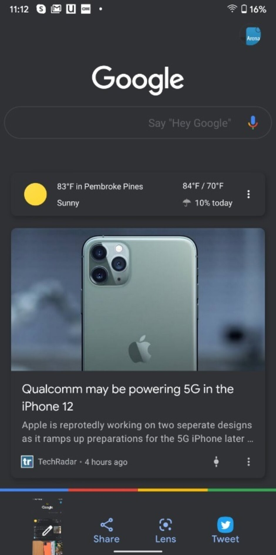 The beta version of the Google app now features Dark Mode for all Android users - Beta version of popular Google app gets Dark Mode for all Android users