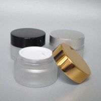 wholesale 15g clear frosted glass cosmetic jar,15g empty ...