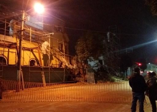 Se derrumba pared de El Molinito en Lerdo y Quintana Roo