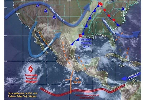 Lluvias fuertes este lunes en el estado de México