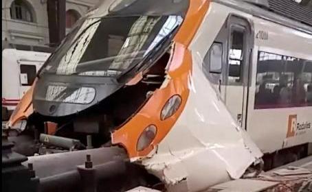 Accidente de tren en Barcelona deja 56 heridos