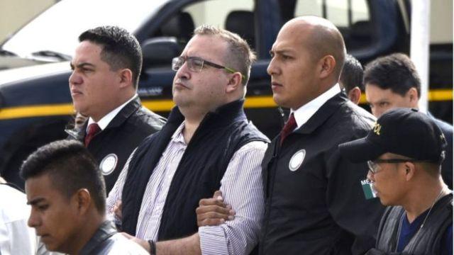 Javier Duarte ya esta en Reclusorio Norte