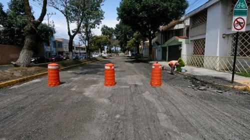 Avanza reencarpetamiento en avenida Miguel Hidalgo