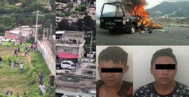 Pobladores y policías chocan en Naucalpan tras intento de linchamiento