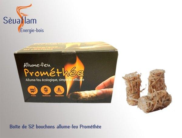 Boîte de 52 bouchons allume-feu Prométhée | Sèvaflam - Bois de chauffage et allumage