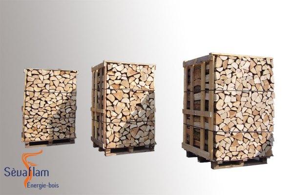 Bois bûche sur palette quartier d'hiver G1 - Sevaflam - Bois de chauffage sur palette