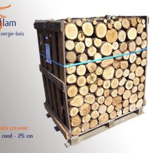 Bois rond 1er choix Nuit d'Hiver (essences G1) – 25 cm