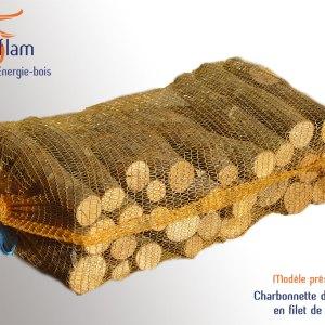 Charbonnette d'allumage en filet – sac de 15 kg – 50, 33 ou 25 cm | Charme, Hêtre ou G2