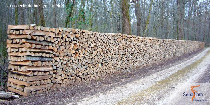 Collecte du bois de chauffage en forêt | Sèvaflam - Bois de chauffage sur palette