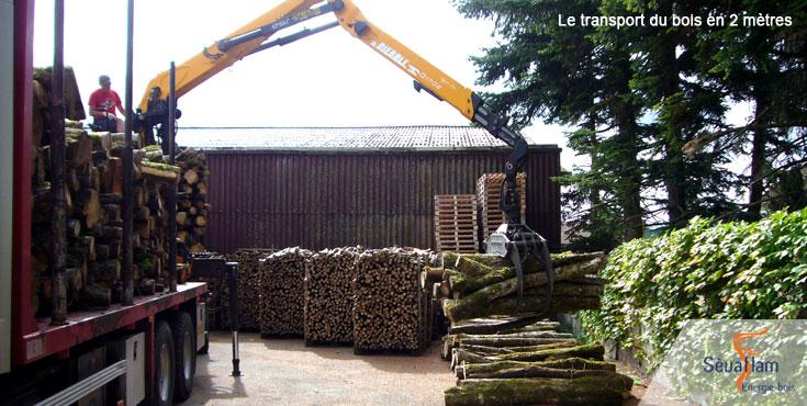 Approvisionnement en bois de chauffage   Sèvaflam - Bois de chauffage sur palette