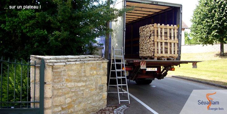 Livraison de bois de chauffage sur palette | Sèvaflam