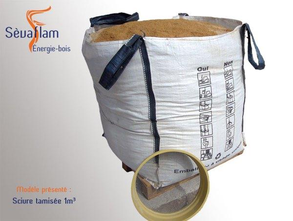 Big bag de sciure tamisée 1m3 | Sèvaflam - Bois de chauffage sur palette
