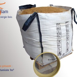 Big bag de sciure tamisée – 1m3 (ou 2m3 sur demande)