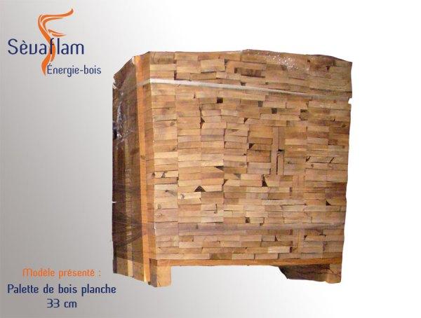 bois planche sec séchoir palette 1,8 stères - 33 cm| Sèvaflam - Bois de chauffage sur palette