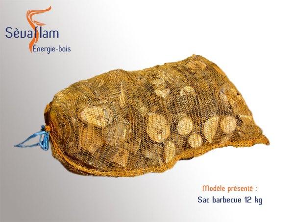 Allumage - Sac filet barbecue 12 kg | Sèvaflam - Bois de chauffage sur palette