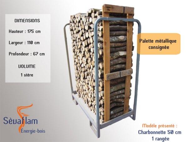 Palette métallique consignée | Sèvaflam - Bois de chauffage sur palette
