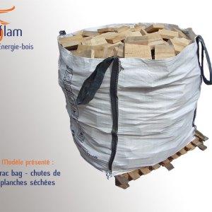 Vrac bag – Chutes de planches séchées de dimension inférieure à 20 cm (essence G1) – 1m³