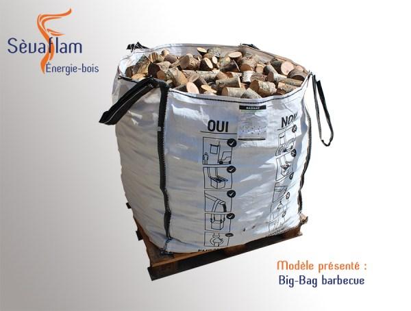 Big bag barbecue - 1m3 | Sèvaflam - Bois de chauffage sur palette
