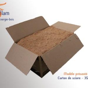 Carton de sciure au choix – 35 dm³