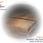 Plancher bois - Planchettes parquet rabotées - Bois d'ébénisterie - menuiserie - construction - Sèvaflam Énergie bois