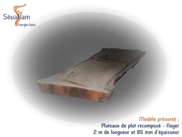 Plateaux en Noyer étuvé et séché - Bois d'ébénisterie - menuiserie - construction - Sèvaflam Énergie bois