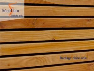 Bardage claire voie - Mélèze - Bois d'ébénisterie - menuiserie - construction - Sèvaflam Énergie bois