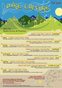 Affiche Vivre Culture_ Hautes Terres de Provence_ 2013