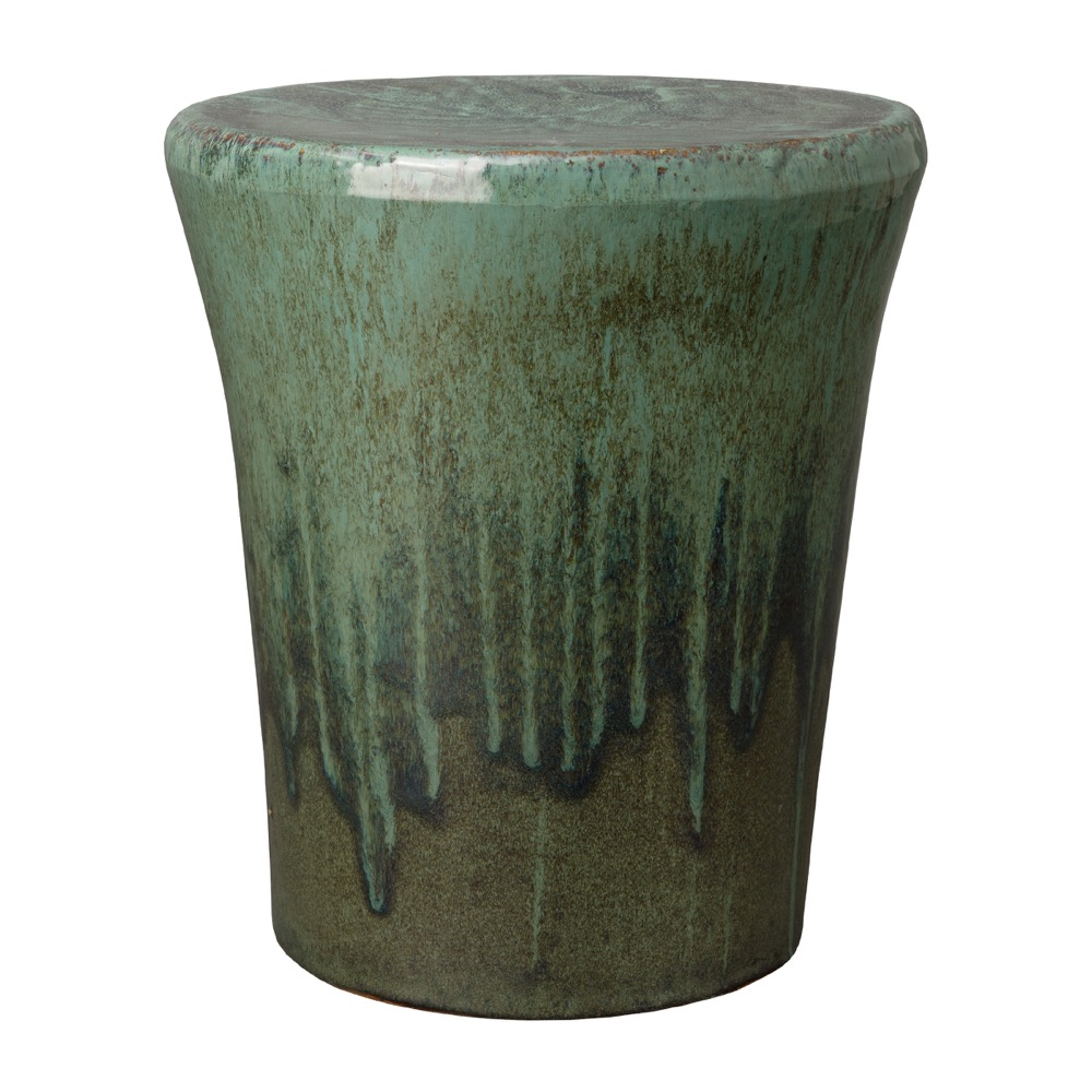 Round Teal Garden Stool  Seven Colonial