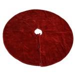 Dark Red Velvet Tree Skirt By Homart Seven Colonial