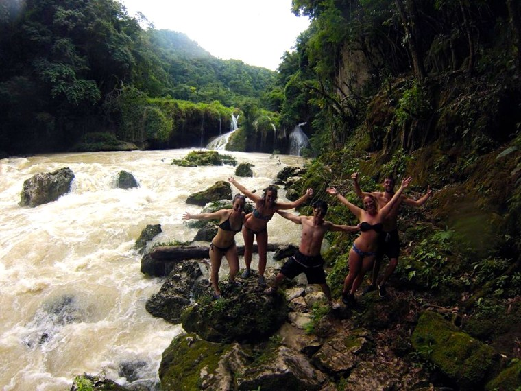 Our group at Semuc Champey, Guatemala